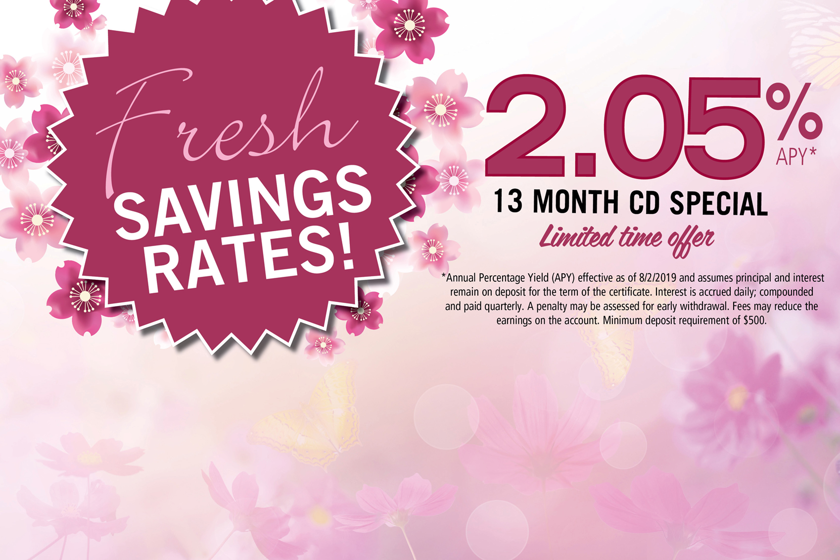 Fresh Savings Rate-13 month CD Special