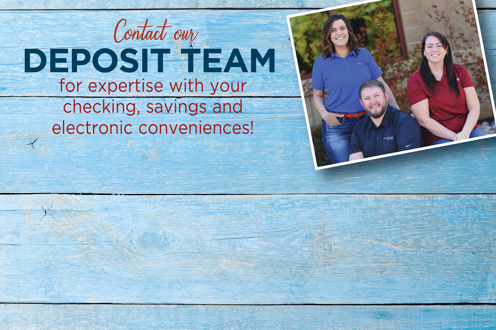 Contact our Deposit Team